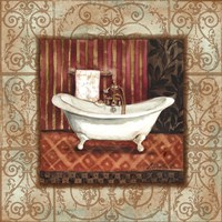Bordo Vintage Bathroom Tub Fine-Art Print