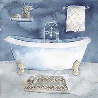 Watercolor Bathroom I Fine-Art Print