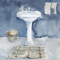 Watercolor Bathroom II Fine-Art Print