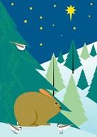 Christmas Rabbit Fine-Art Print