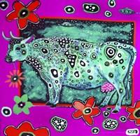 Cosmic Green Cow Fine-Art Print