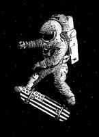 Kickflip In Space Fine-Art Print