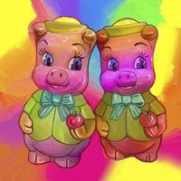 2 Piggies Fine-Art Print