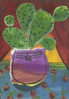 Prickly Pear in Purple Pot Fine-Art Print