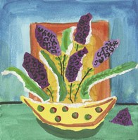 Purple Flowers Polka Dot Pot Fine-Art Print