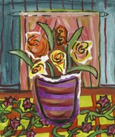 Flowers in Purple Pot Fine-Art Print