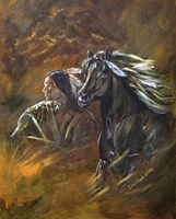 Indian And Horse Fine-Art Print