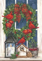 Pomegranate Christmas Wreath Fine-Art Print