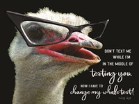 Ostrich Don't Text Me Fine-Art Print