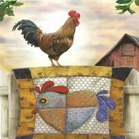 Rooster and Quilt Fine-Art Print