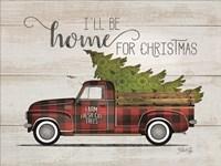 Home for Christmas Vintage Truck Fine-Art Print