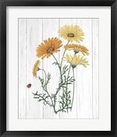 Botanical Bouquet on Wood I Fine-Art Print