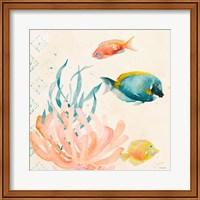 Tropical Teal Coral Medley II Fine-Art Print