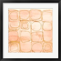Circular Squares of Peach Fine-Art Print