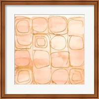 Circular Squares of Peach Fine-Art Print