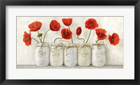 Red Poppies in Mason Jars Fine-Art Print