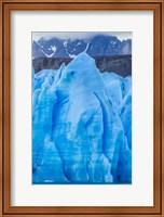 Chile, Patagonia, Torres Del Paine National Park Blue Glacier And Mountains Fine-Art Print