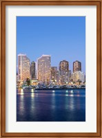 Hawaii, Honolulu, Twilight Waikiki Skyline Fine-Art Print