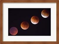 Composite Of The Phases Of A Total Lunar Eclipse Fine-Art Print