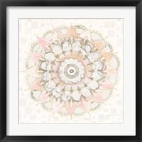 Modern Mandala Square Champagne Fine-Art Print