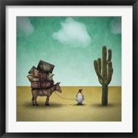 Mr. Penguin Goes on Holiday Fine-Art Print