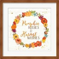 Harvest Wishes II on Wood Fine-Art Print