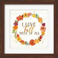 Harvest Wishes I on Wood Fine-Art Print