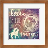 Universe Galaxy Lasso the Moon Fine-Art Print