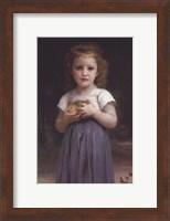 Little Girl Holding Apples in Her Hands Fine-Art Print