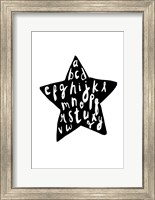 Alphabet star Fine-Art Print