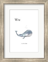 Ww Is For Whale Fine-Art Print