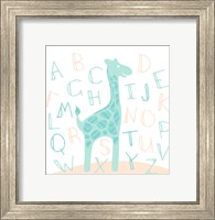 Giraffe Fun Cream Fine-Art Print