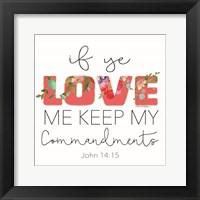 If Ye Love Me Fine-Art Print