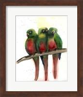 Green Parrots Fine-Art Print