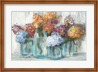 Fall Hydrangeas in Glass Jar Crop Fine-Art Print
