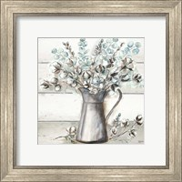 Farmhouse Cotton Tin Pitcher Fine-Art Print