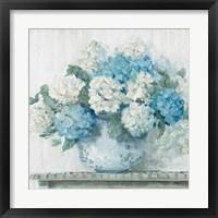 Blue Hydrangea Cottage Crop Fine-Art Print