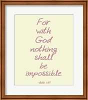 For With God Fine-Art Print