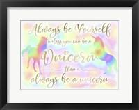 Always be Yourself Unicorn Fine-Art Print