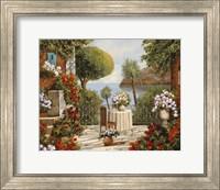 Terrazza Sedia e Vaso a Specchio Fine-Art Print