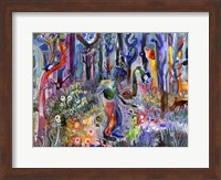 Fighting a Snake Alone in the Woods Fine-Art Print