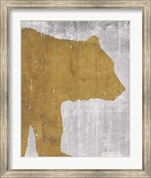 Rustic Lodge Animals Bear on Grey Fine-Art Print