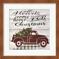 All Hearts Red Truck Fine-Art Print