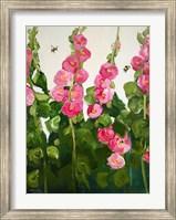 Hollyhocks Fine-Art Print
