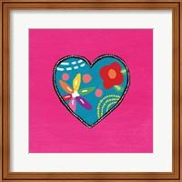 Pink Painted Heart Fine-Art Print
