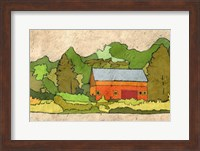 Cabin in the Green Forest Fine-Art Print