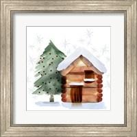 Christmas Hinterland IV Tree & Cabin Fine-Art Print