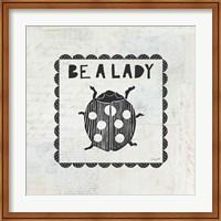 Ladybug Stamp Be A Lady Fine-Art Print