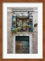 Italian Window Flowers I Fine-Art Print