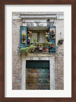 Italian Window Flowers I Fine-Art Print